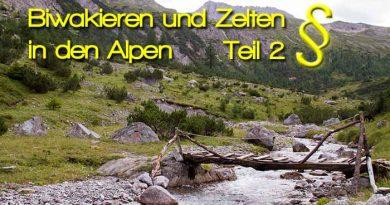 Biwakieren und Zelten in den Alpen Gesetze in Deutschland Österreich Italien 390x205 - Biwakieren und Zelten in den Alpen Teil - 2 - Rechtliche Informationen
