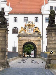 Castle entrance hartenfels in Torgau 225x300 - Torgau city trip attractions