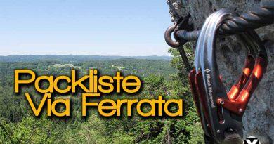 Packliste für Klettersteig Via Ferrata 390x205 - Packliste für Klettersteig - Via Ferrata