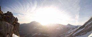 Bergpanorama am Watzmann Sonnenaufgang 2 300x123 - Watzmann - Watzmannhaus Wintertour