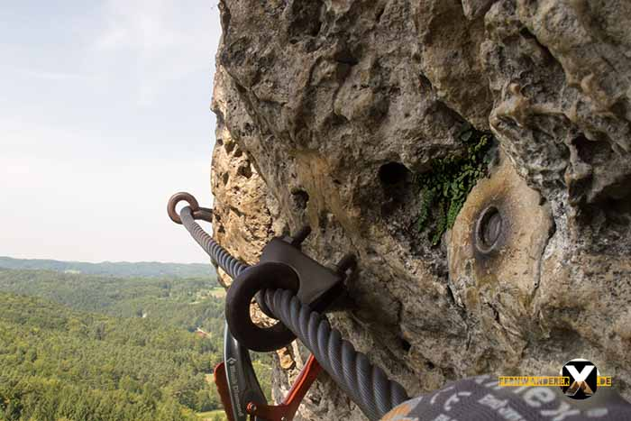 Höhenglücksteig in der Fränksichen Schweiz-Klettersteig-Via Ferrata