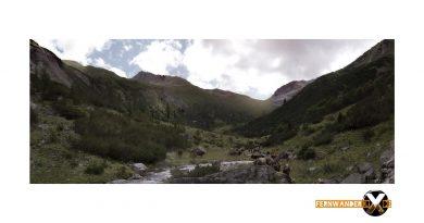 Bergpanorame Fotografie auf dem Weg zur ansbacher Hütte im Lechtal Lechtaler Alpen Landschaftsfotografie1 390x205 - the cows in the valley