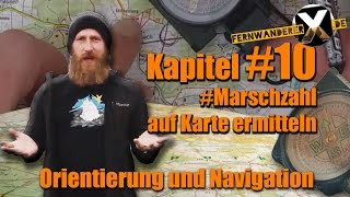 Marschzahl ermitteln - Orientation and navigation:  Marsch number identify / determine location with forward cut