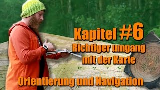 Richtiger umgang mit dem Kompass - Orientation and navigation:  Walking with a map and compass / hiking / Marching