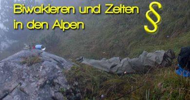 Biwakieren und Zelten in den Alpen Deutschland Österreich Italien 390x205 - Biwakieren und Zelten in den Alpen - Wild campen- Rechtliche Informationen