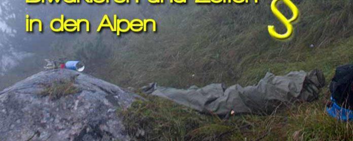 Biwakieren und Zelten in den Alpen Deutschland Österreich Italien 696x279 - Biwakieren und Zelten in den Alpen - Wild campen- Rechtliche Informationen