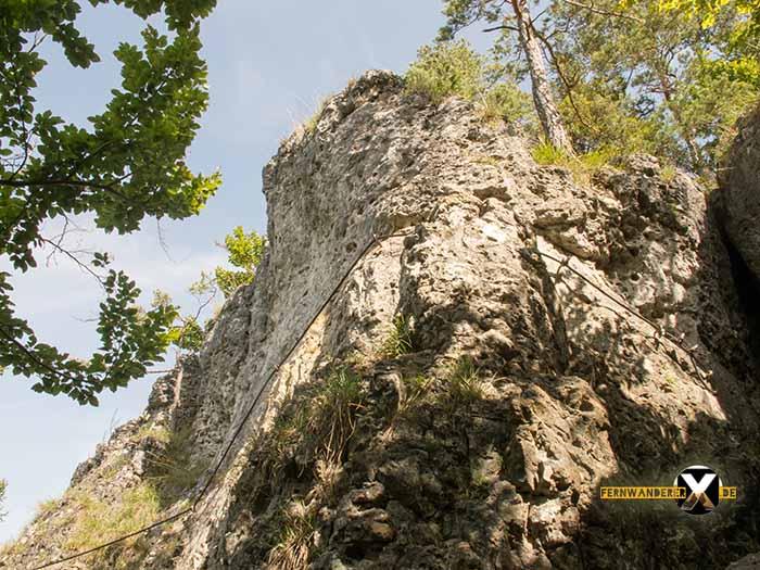 Klettersteig Fränkische Schweiz : Höhenglücksteig in der fränksichen schweiz klettersteig via