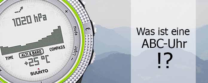 Was ist eine ABC Uhr What is a ABC watch Bergsteigeruhr Altimeter barometer compass watch  - Was ist eine ABC Uhr?