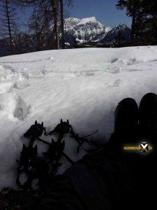 Watzmannhaus Winterquartier Hütte  Watzmann Winter Tour Wandern Schneeschuh 26 225x300 - Watzmann - Watzmannhaus Wintertour